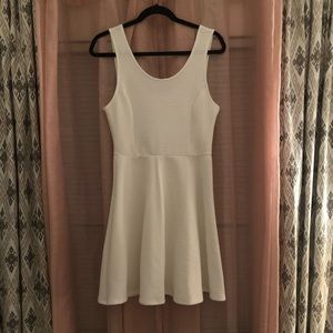 White fit/flare dress